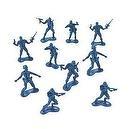PLASTIC BLUE ARMY MEN (144 PIECES) - BULK