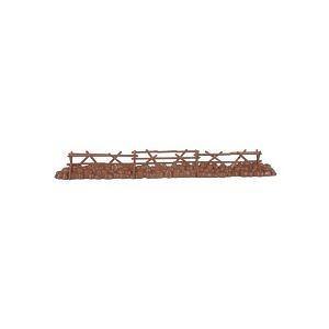 "54mm Split Rail Wood Fence (12"" Long) by BMC"