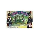 Napoleonic Wars Waterloo 1815 French Old Guard Foot Artillery Crew (5) w/Cannon 1/32 Armies in Plastic