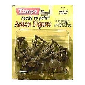 Medieval Knights: 8 piece set of 54mm Plastic Army Men Figures - 1:32 scale