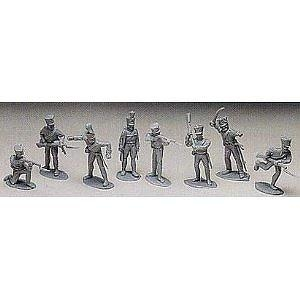 Prussian Infantry at Waterloo: 8 piece set of 54mm Plastic Army Men Figures - 1:32 scale