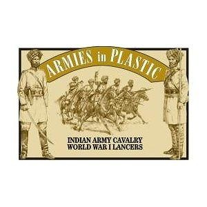 Indian Army Cavalry Lancers (5 Mounted) 1/32 Armies in Plastic