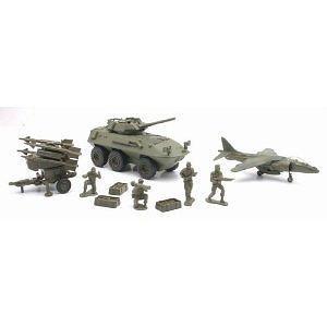 10 Piece Military Playset (Set A) (NewRay) 61685