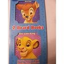 Disney 2 Board Book Set ~ Bambi & The Lion King (and Friends)