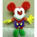 "Disney Multi Colored Red, Purple, Yellow 9"" Plush Mickey Mouse Bean Bag Doll"