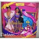 Disneys ALADDIN & Jasmine Magic Carpet Giftset from mattel 1993