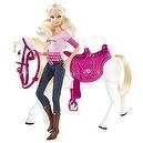 "Barbie and Tawny ""Walking Together"" Doll and Horse Set"