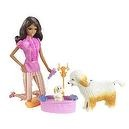 Barbie Reality Clean Up Pup African American Doll Playset