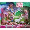 Barbie Lil Zoo Pals Gift Set w Barbie, Kelly & Stacie Dolls (1998)