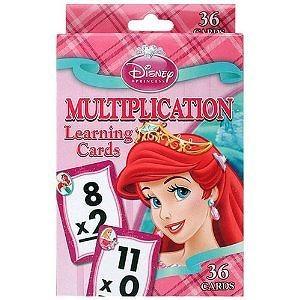 Disney Princess Multiplication Learning Cards (Box and card art work vary)