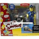 SPRINGFIELD POLICE STATION & EXCLUSIVE OFFICER EDDIE The Simpsons World Of Springfield Interactive Environement & Action Figure