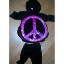Peace Love, 2 Pc, Girl Halloween Dress up Costume, Size Baby Toddler 6/9 Months