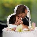 Cathys Concepts Photo Cake Topper  Wedding Cake Topper: Heart Shape with Embedded Photo