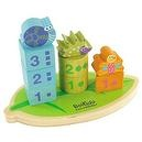 Boikido Eco-Friendly Wooden Stack And Count Shapes