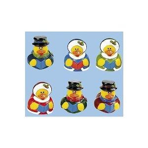 12 Rubber Duck Ducky Duckie Christmas Caroling Ducks