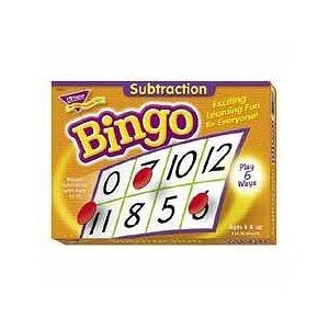 Trend Enterprises T6070 Subtraction Bingo Game,Incld 36 Playing Cards/Over 200 Chips