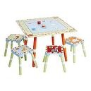 Levels of Discovery Alphabet Soup Table and Stool Set Multi-Color