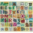 Oopsy daisy Animal Alphabet Stretched Canvas Wall Art by Maria Carluccio, 40 by 36-Inches