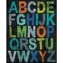 Oopsy Daisy Fine Art for Kids Inspire Me Alphabet Boy Stretched Canvas Art by Mary Beth Freet, 18 by 24-Inch