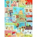 Oopsy daisy Barnyard Alphabet Stretched Canvas Wall Art by Winborg Sisters, 30 by 40-Inch