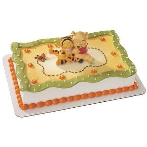 Baby Pooh with Tigger Hugging Cake Topper