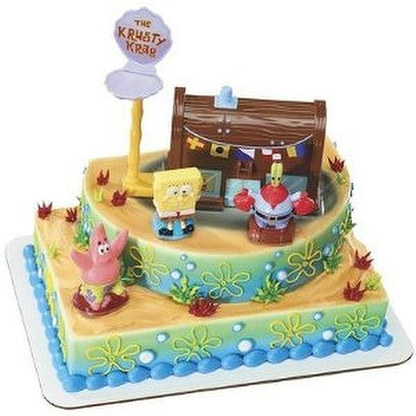 Spongebob Squarepants And The Krusty Krab Cake Topper Decorating Kit
