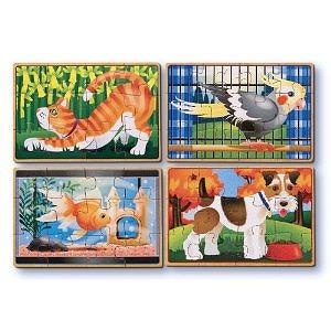 Melissa & Doug Deluxe Pets in a Box Jigsaw Puzzles