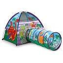 Pacific Play Tents Dinosaur Tent and Tunnel Combo, Multi