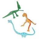 One Dozen Fun Toys Bendable Dinosaurs: T-Rex, Brachiosaurus and Pteranadons - 3.25 to 7.75 inches long