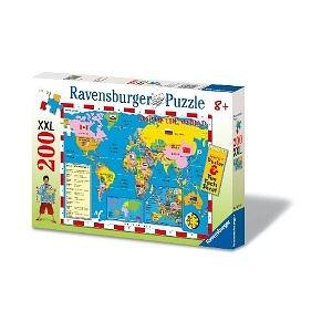 Ravensburger World Map - 200 Piece Discover & Learn Puzzle