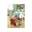Teamson Kids Childrens Dinosaur Kingdom Push Cart with Wheels