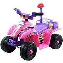 EZ Riders Battery-Powered Princess Mini ATV 4-Wheeler, Pink/Purple