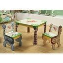 Teamson Kids Childrens Dinosaur Kingdom Table and Set of 2 Chairs