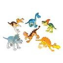 Cartoon Dinosaurs: Set of Six 3 inch Dino Figures