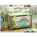 Teamson Kids Childrens Dinosaur Kingdom Toy Box