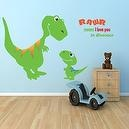 Dinosaur Wall Decal - Rawr ... means I Love you, for Baby Nursery or Kids Room  Childrens Room Wall Decals (Monkey, Owl, Tree