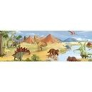 Oopsy Daisy Dinosaur Kingdom Stretched Canvas Art by Justine Bassett and Jill Bachman, 39 by 13-Inch