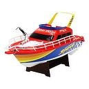 1:28 Scale (RED) Full Function 3-channel Radio Control Racing Boat Vessel Model W/ Rechargeable Batteries Tremendous Detail and