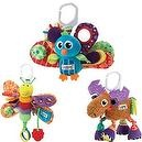 Lamaze Jacques the Peacock Plus Freddie the Firefly and Mortimer the Moose Baby Bundle  Lamaze Jacques the Peacock And Friends