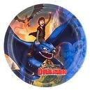 "How To Train Your Dragon 8 3/4"" Large Party Plates 8 Count"