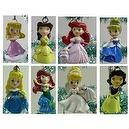 Unique Set of 8 Teenage Princess Christmas Tree Ornaments Featuring Cinderella, Beauty and the Beast Belle, Little Mermaid Arie