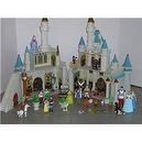 Disney Exclusive Cinderellas Castle Playset with 10 Disney Poseable Characters (Jasmine, Alladin, Sleeping Beauty, Prince Phil
