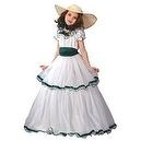 Southern Belle Child Large Costume  White Southern Belle Costume