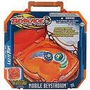 Hasbro Year 2010 Beyblade Metal Fusion High Performance Battle Tops MOBILE BEYSTADIUM Portable Battle Case that Carry and Store