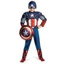 Avengers Captain America Muscle Light Up Costume, Red/White/Blue, Medium  Avengers Captain America Muscle Light Up Costume