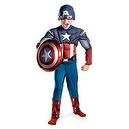 Avengers Captain America Deluxe Costume W/shield 4-6