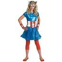 Girl Captain America Costume - Child/teen Costume - Large (10-12)  Girl Captain America Costume - Child/teen Costume