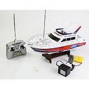 1:28 Scale (White) Full Function 3-channel Radio Control Racing Boat Vessel Model W/ Rechargeable Batteries