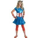 Disguise Inc Captain America Girl Child/Teen Costume  Disguise Inc Captain America Girl Child/Teen Costume