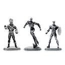 2010 San Diego Comic Con Exclusive 3 Pack sets Marvel Bronze Figures - Series #2 Iron Man, Ghost Rider and Captain America